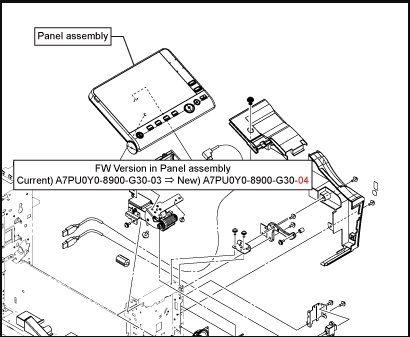 Панель управления (Panel assembly ) Develop ineo+ 258